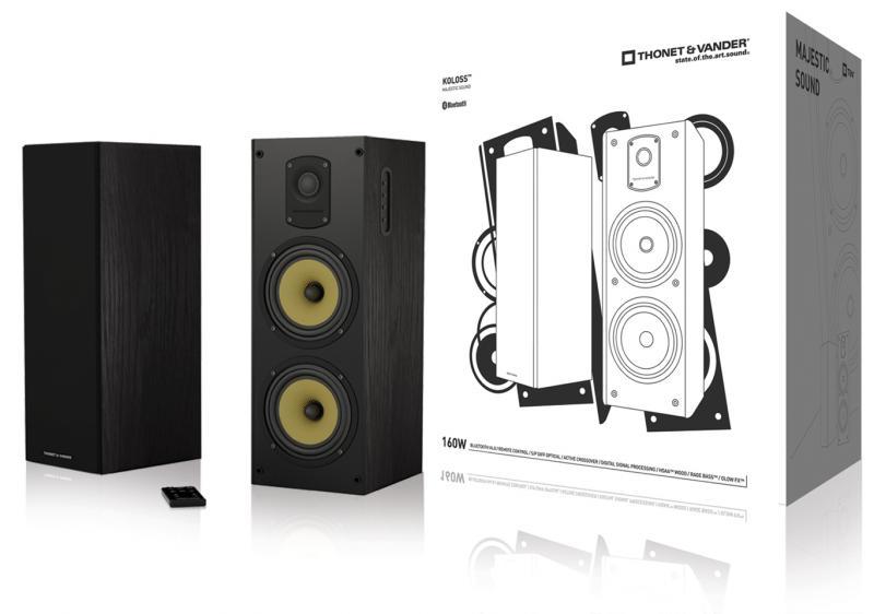 Koloss Juego de altavoces 2.0 Bluetooth 160W